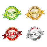 Set of labels with PREMIUM QUALITY etc. Royalty Free Stock Photography