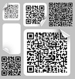 Set of labels with qr codes vector illustration
