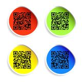 Set of labels with qr codes. Stock Photography