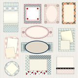 Set of labels quilting design. Frames and borders Royalty Free Stock Photography