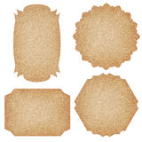 Set of labels from recycled paper. Royalty Free Stock Images