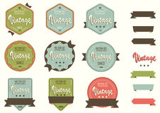 Set of labels. Stock Image