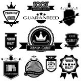 Set of labels with retro vintage style design Royalty Free Stock Images