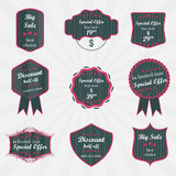 Set of  labels on sale product Royalty Free Stock Photography