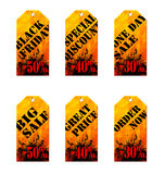 Set of labels for sale. S, vector  illustration clip-art Stock Photo
