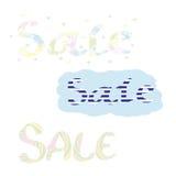 Set of labels - sale. Set of labels Sale - strip, disco, bubbles royalty free illustration