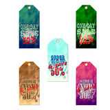 Set of labels Royalty Free Stock Images