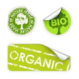 Set of labels with stamps for organic. Fresh, healthy, bio food Stock Photo