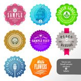Set of labels and stickers stock photo