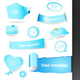 Set of labels and stickers. Vector art Royalty Free Stock Photo