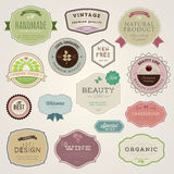 Set of  labels and stickers Stock Photos