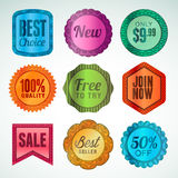 Set of labels and stickers Royalty Free Stock Images