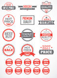 Set labels and stickers. For advertising and trade Stock Photography