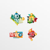 Set of labels, stickers, banners, badges and Royalty Free Stock Image