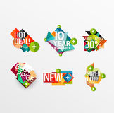 Set of labels, stickers, banners, badges and Royalty Free Stock Photos