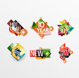 Set of labels, stickers, banners, badges and Stock Photos