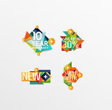 Set of labels, stickers, banners, badges and Royalty Free Stock Photo