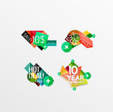 Set of labels, stickers, banners, badges and. Elements for sale. Vector illustration Stock Image