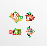 Set of labels, stickers, banners, badges and. Elements for sale. Vector illustration Royalty Free Stock Image