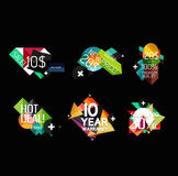 Set of labels, stickers, banners, badges and. Elements for sale. Vector illustration Royalty Free Stock Photography