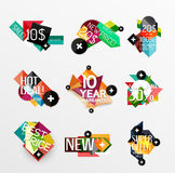 Set of labels, stickers, banners, badges and Royalty Free Stock Images