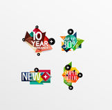 Set of labels, stickers, banners, badges and. Elements for sale. Vector illustration Stock Images