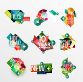 Set of labels, stickers, banners, badges and. Elements for sale. Vector illustration Stock Photos