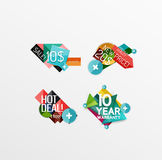 Set of labels, stickers, banners, badges and Royalty Free Stock Photography