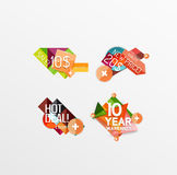 Set of labels, stickers, banners, badges and. Elements for sale. Vector illustration Royalty Free Stock Photo