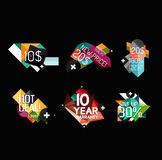 Set of labels, stickers, banners, badges and. Elements for sale. Vector illustration Royalty Free Stock Images