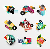 Set of labels, stickers, banners, badges and Stock Photo