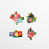 Set of labels, stickers, banners, badges and. Elements for sale. Vector illustration Stock Photography