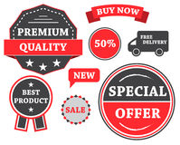 Set of labels and stickers Royalty Free Stock Photos