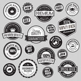 Set of labels and stickers for sale Royalty Free Stock Photo