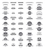 Set of labels and stickers. Vector flat design illustrations Royalty Free Stock Image