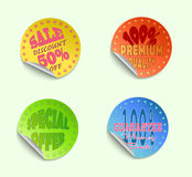 Set of labels05. Set of  stickers, vector illustration Stock Images