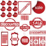 Set of labels, tags, stamps and stickers Stock Images