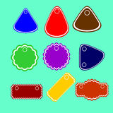 Set of labels, tags. Vector template royalty free illustration