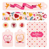 Set of labels to celebrating Valentine`s day. Stock Images