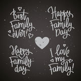 Set of labels to the Family Day Stock Photography