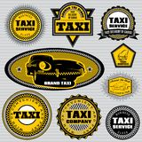 Set of labels to topic taxi and trucking Stock Photo