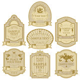 Set of labels Stock Image