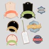 Set of labels04. Set of vintage labels, vector illustration Stock Image