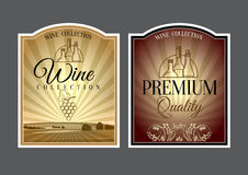 Set of labels for wine. Royalty Free Stock Photography