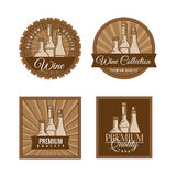Set of labels for wine. Royalty Free Stock Images