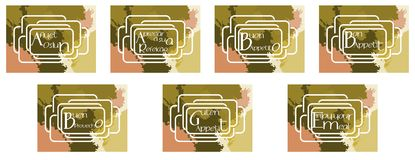 Set of labels with words enjoy your meal Stock Image