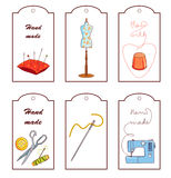 Set of lables for hand sewn Royalty Free Stock Photo
