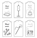 Set of lables for hand sewn Royalty Free Stock Image