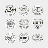 Set of labor day badges. international workers day vector Illustration. Set of labor day badges. international workers day greeting cards. vector Illustration vector illustration