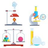 Set of laboratory equipment Royalty Free Stock Photos